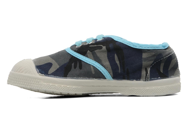 Sneakers Bensimon Tennis Camouflage E Azzurro immagine frontale