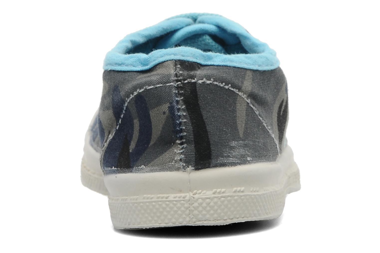 Sneakers Bensimon Tennis Camouflage E Azzurro immagine destra