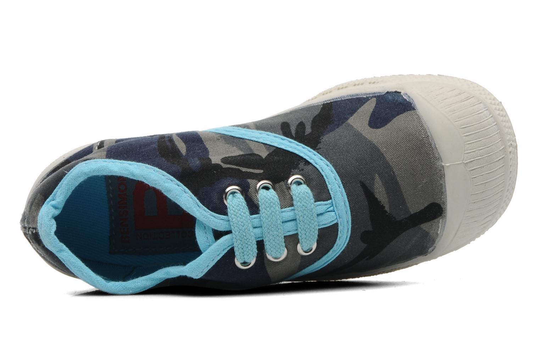 Sneakers Bensimon Tennis Camouflage E Azzurro immagine sinistra
