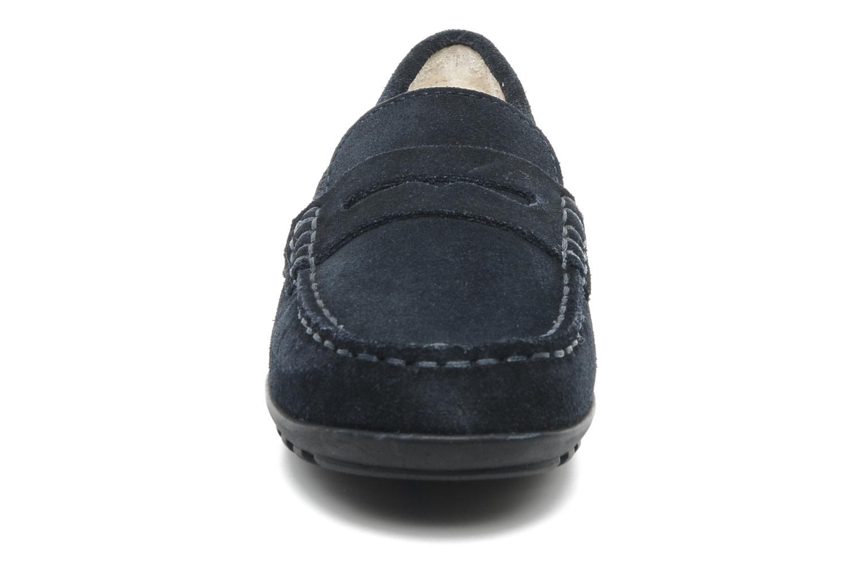 Mocassins Geox J FAST B Bleu vue portées chaussures