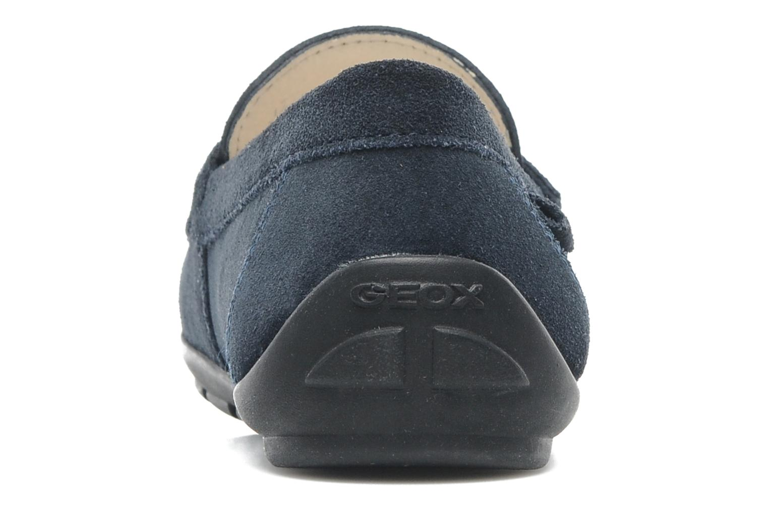 Loafers Geox J FAST B Blue view from the right