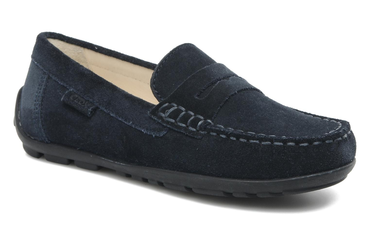 Loafers Geox J FAST B Blue detailed view/ Pair view