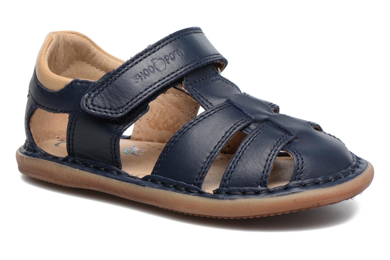 Sandales et nu-pieds Shoo Pom Crespin Tonton Bleu vue détail/paire