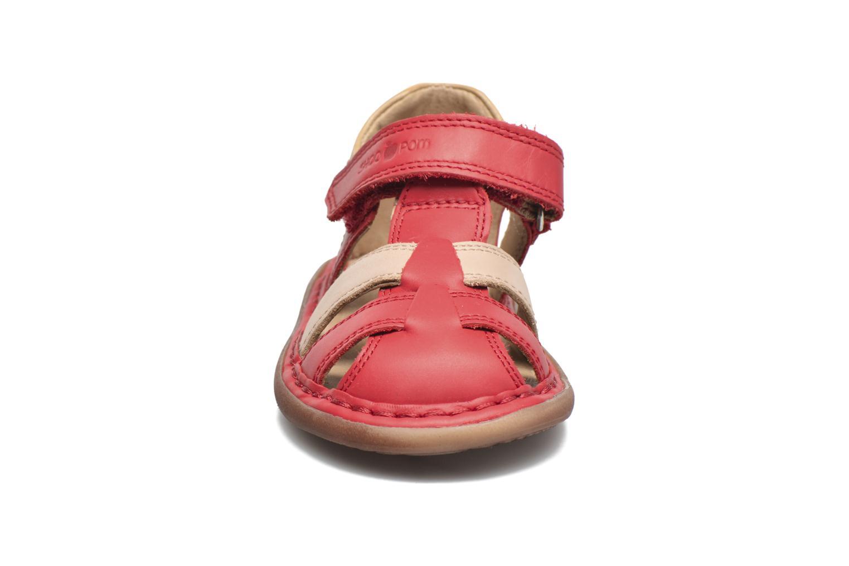 Sandali e scarpe aperte Shoo Pom Crespin Tonton Rosso modello indossato