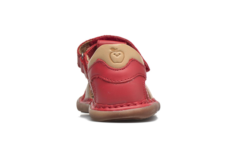 Sandali e scarpe aperte Shoo Pom Crespin Tonton Rosso immagine destra