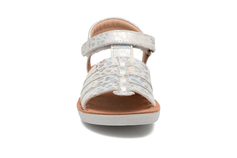 Sandalen Shoo Pom Goa Spart silber schuhe getragen