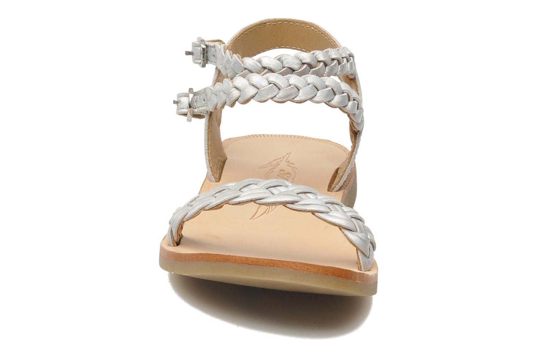 Sandales et nu-pieds Shwik LAZAR BI WOVEN Argent vue portées chaussures