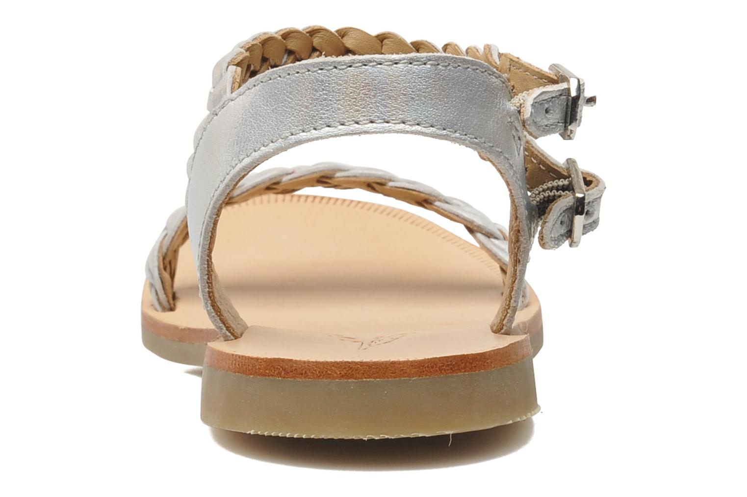 Sandals Shwik LAZAR BI WOVEN Silver view from the right