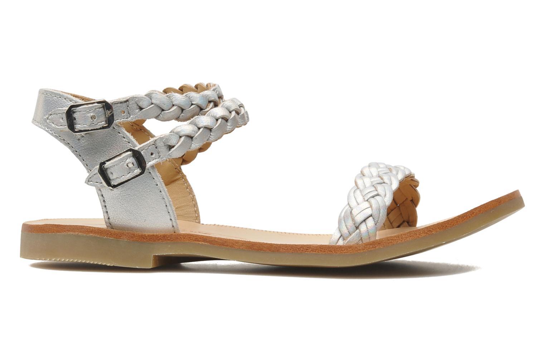 Sandales et nu-pieds Shwik LAZAR BI WOVEN Argent vue derrière