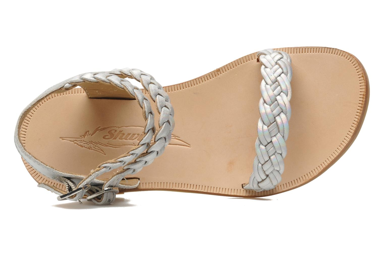Sandales et nu-pieds Shwik LAZAR BI WOVEN Argent vue gauche