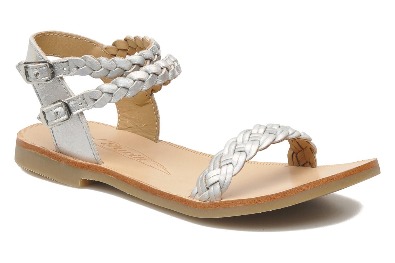 Sandales et nu-pieds Shwik LAZAR BI WOVEN Argent vue détail/paire
