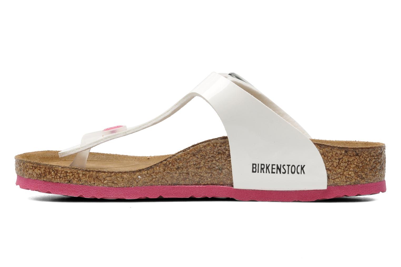 Zehensandalen Birkenstock Gizeh Birko-Flor weiß ansicht von vorne