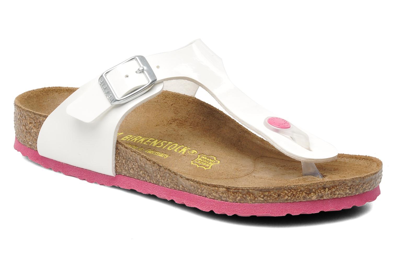 Flip flops & klipklapper Birkenstock Gizeh Birko-Flor Hvid detaljeret billede af skoene