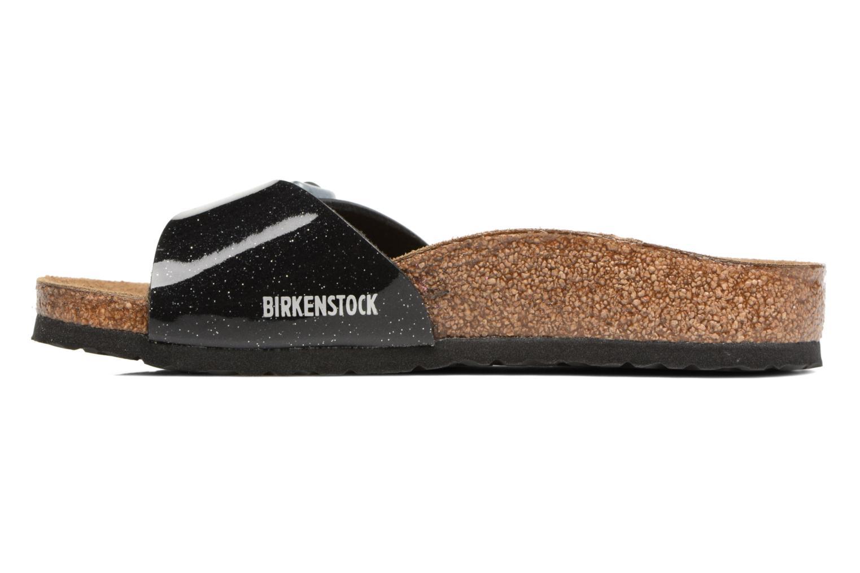 Sandals Birkenstock Madrid Birko Flor Black front view