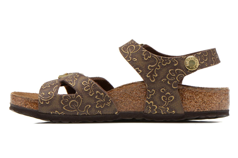 Sandales et nu-pieds Birkenstock Rio Birko Flor Marron vue face