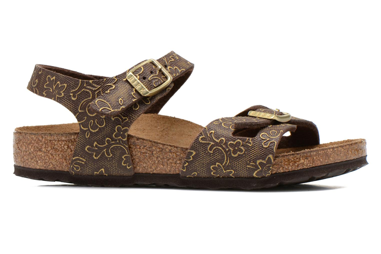 Sandales et nu-pieds Birkenstock Rio Birko Flor Marron vue derrière