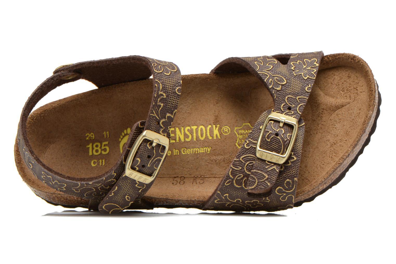 Sandales et nu-pieds Birkenstock Rio Birko Flor Marron vue gauche