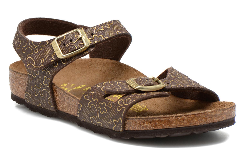 Sandales et nu-pieds Birkenstock Rio Birko Flor Marron vue détail/paire