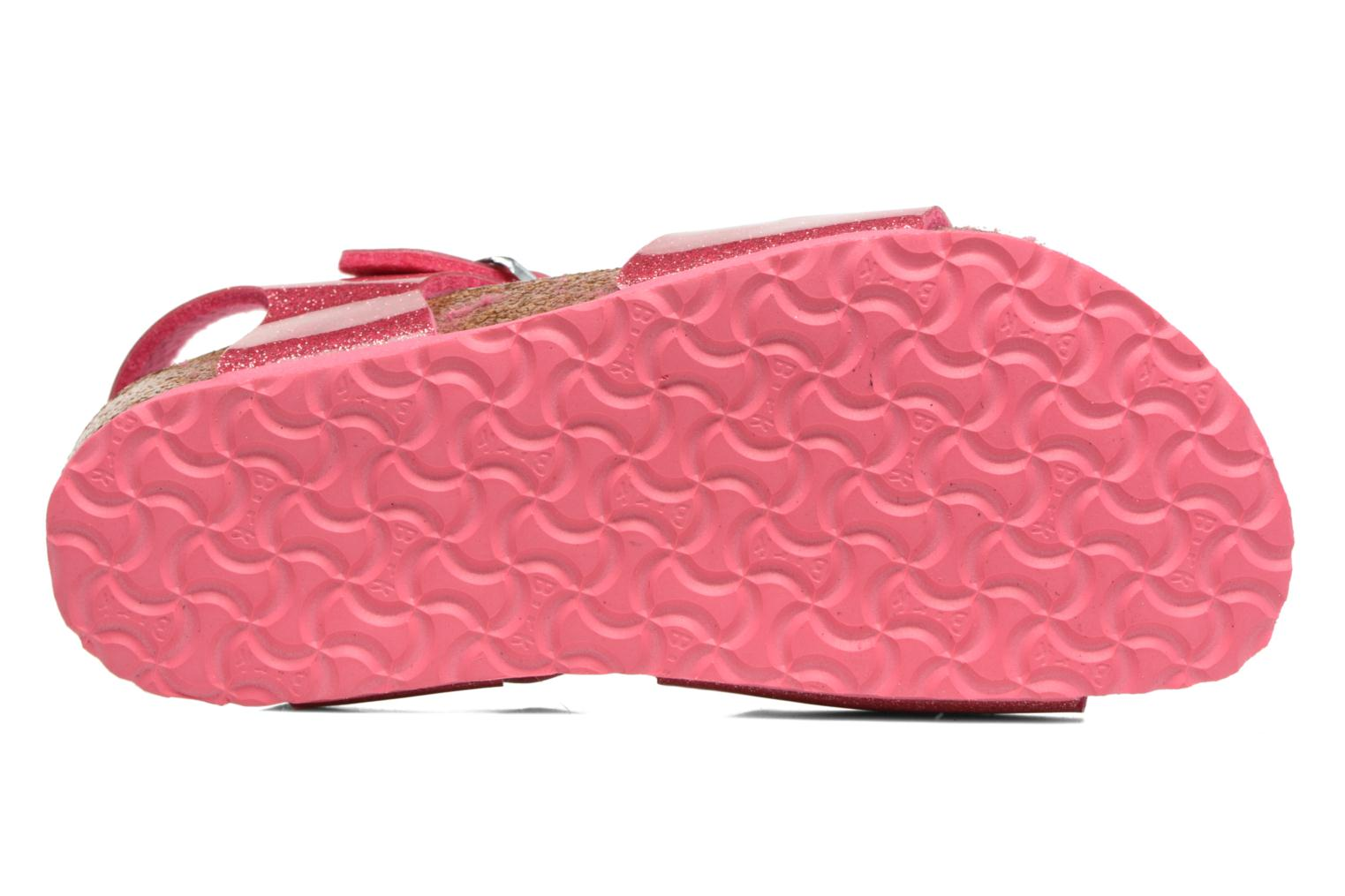 Sandals Birkenstock Rio Birko Flor Pink view from above