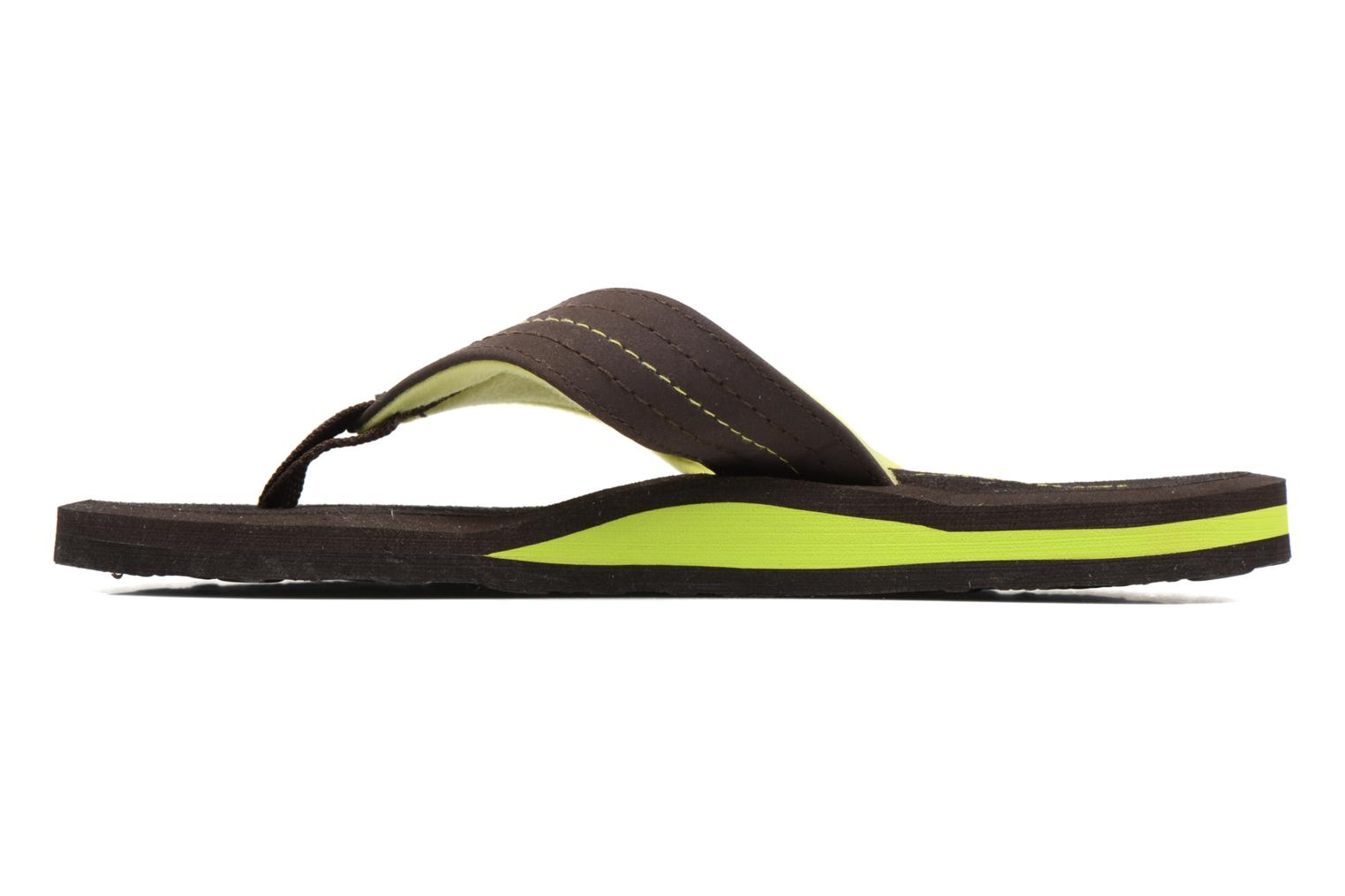 Flip flops Isotoner Tong Yoga Homme Brown front view