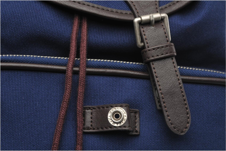 Rucksäcke Fred Perry Classic canvas rucksack blau ansicht von links