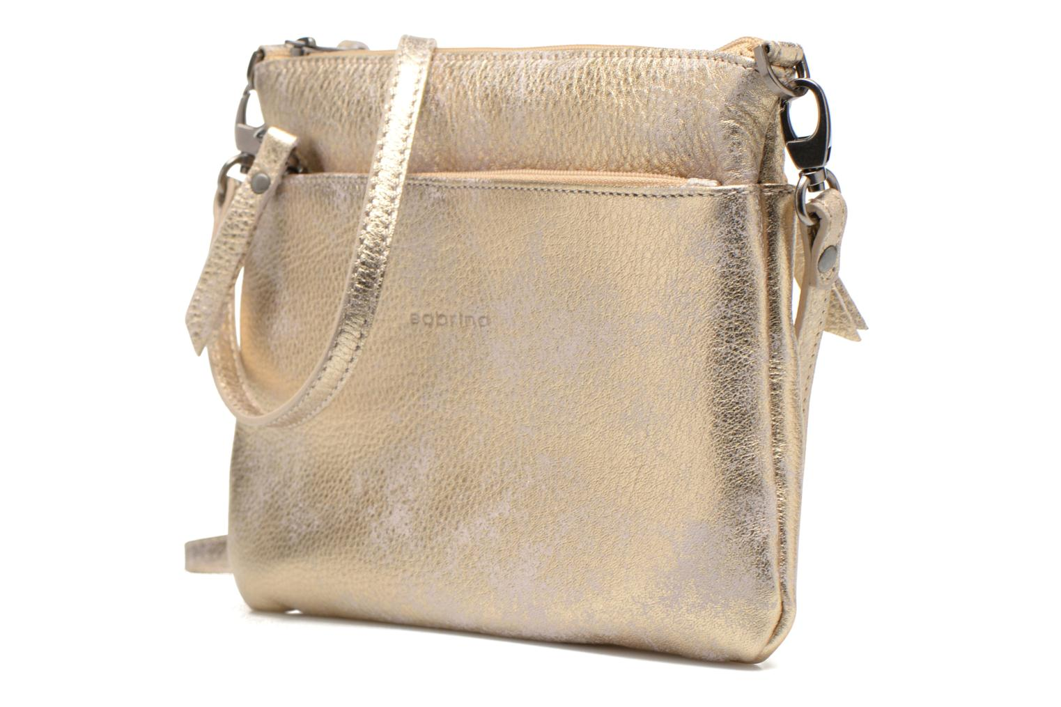 Clutch bags Sabrina Sophie Bronze and Gold model view