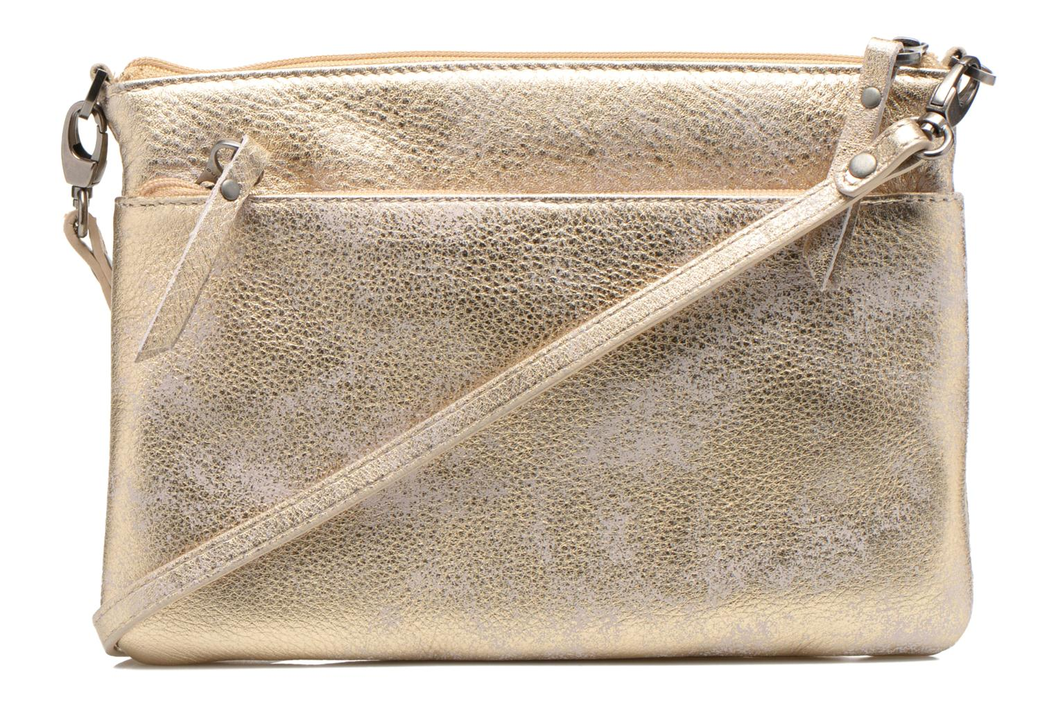 Clutch bags Sabrina Sophie Bronze and Gold front view