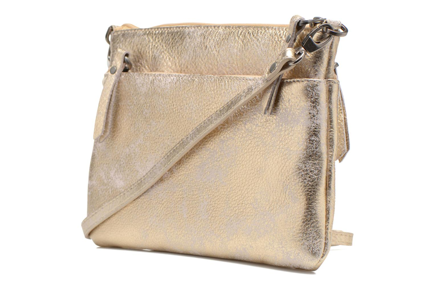 Clutch bags Sabrina Sophie Bronze and Gold view from the right