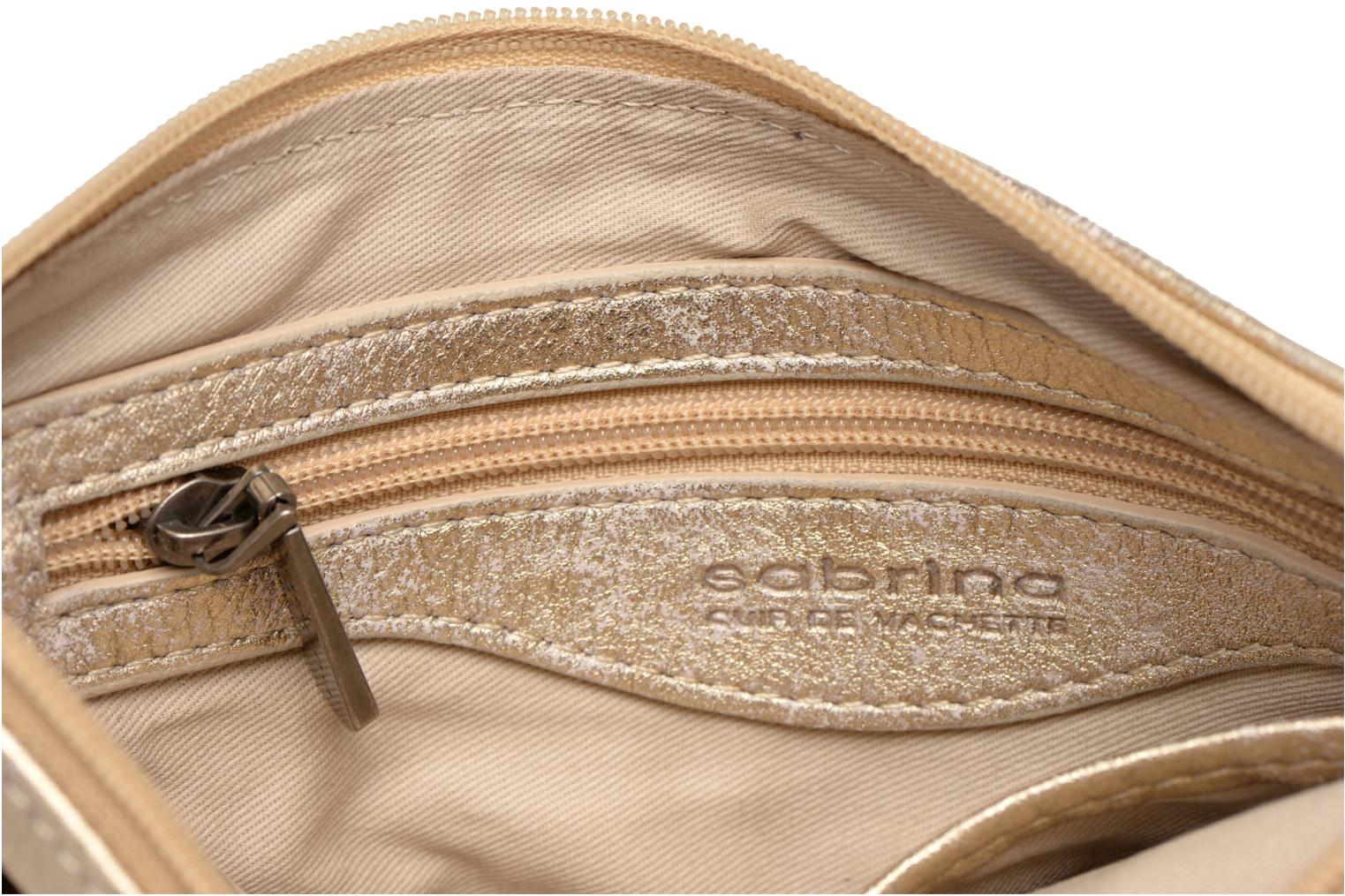 Clutch bags Sabrina Sophie Bronze and Gold back view