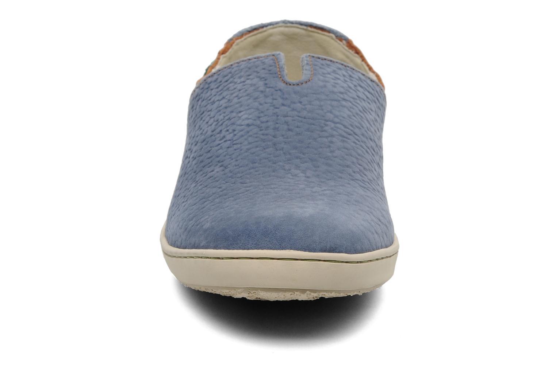 Mocassins El Naturalista Estratos N359 Bleu vue portées chaussures