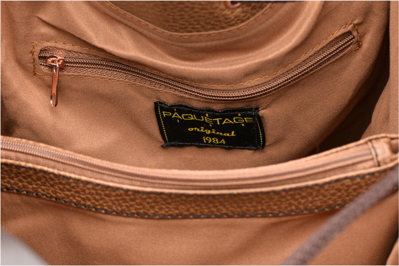 Handtassen Paquetage Cabas lacet Grainé Beige achterkant