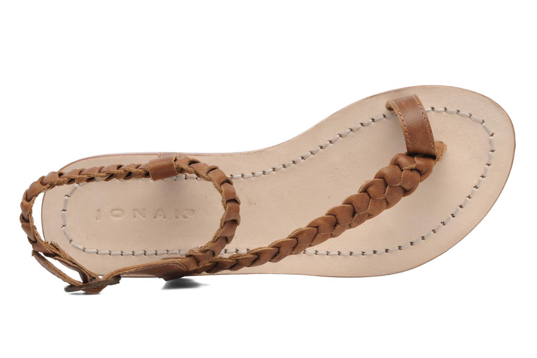 Sandales et nu-pieds Jonak Jade Marron vue gauche