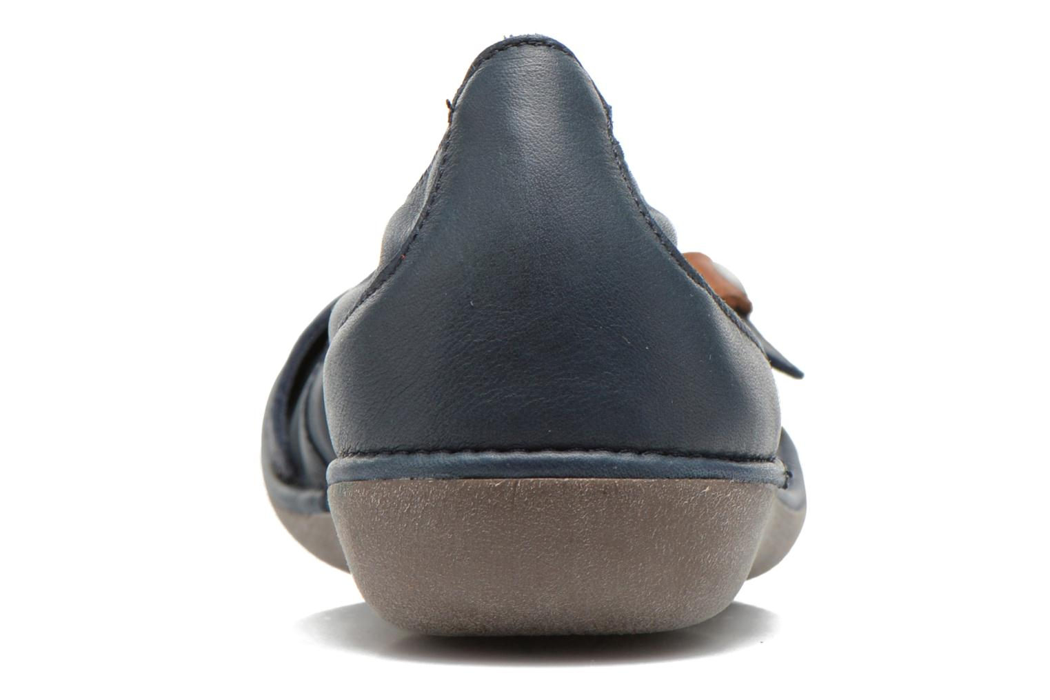 Ballet pumps TBS Maline Blue view from the right