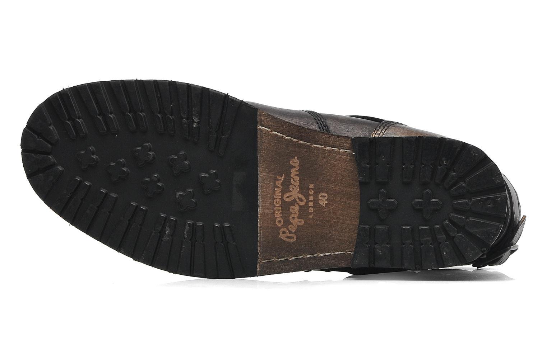 Bottines et boots Pepe jeans Melting Biker Heritage Noir vue haut