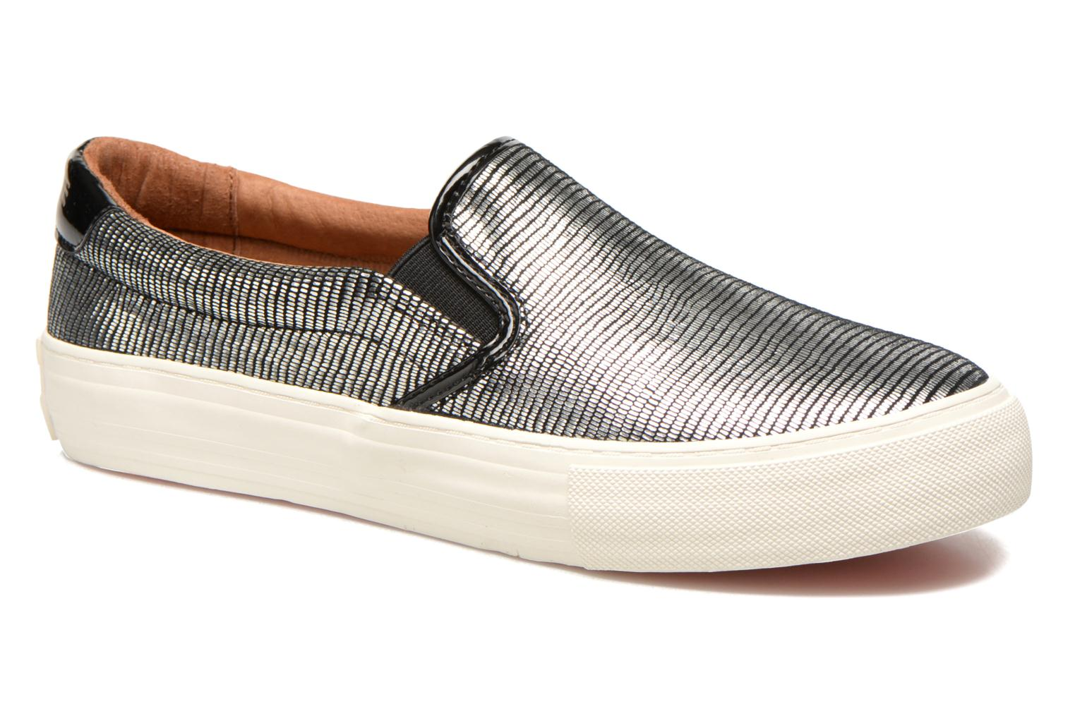 Sneakers No Name Arcade Slip On Zilver detail