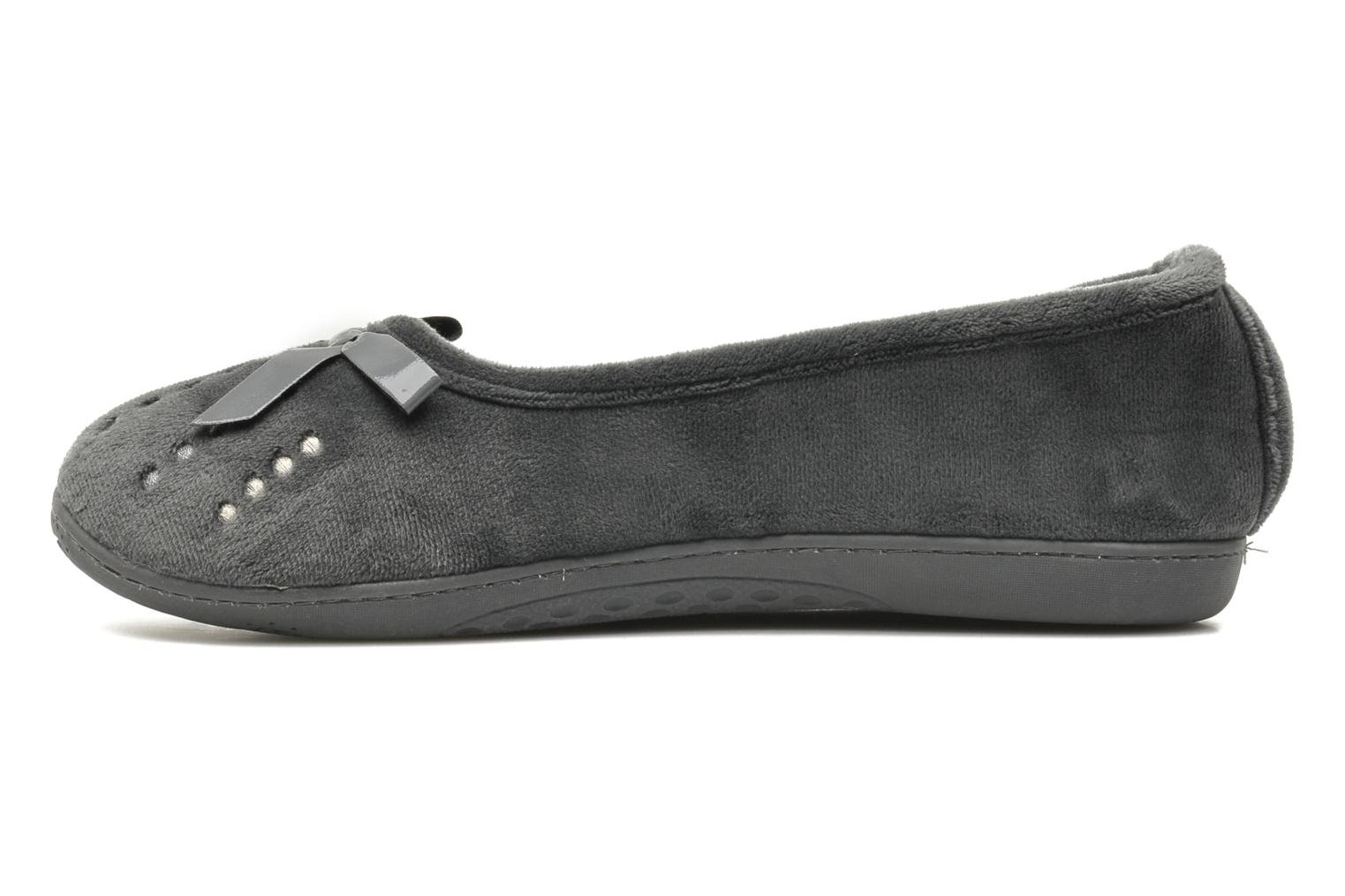 Ballerine Microvelours-Semelle Ergonomique Gris Foncé