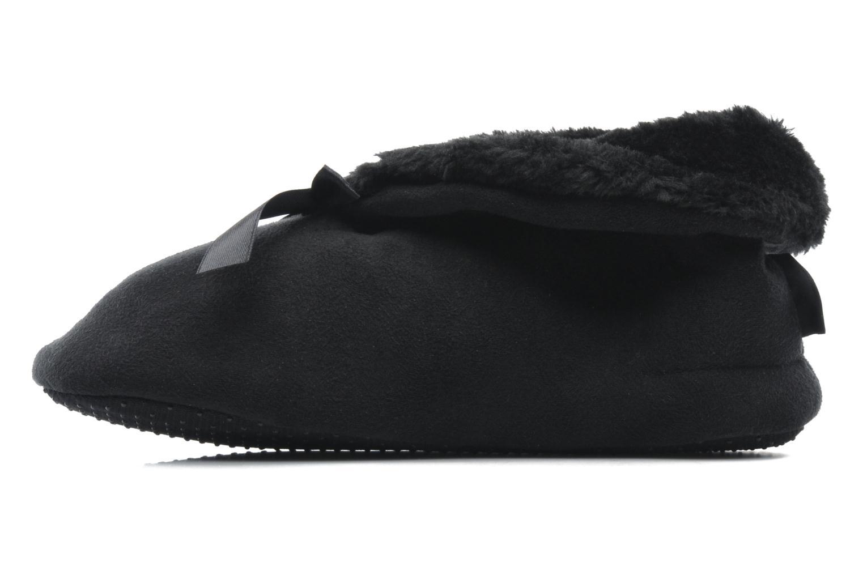 Pantoffels Isotoner Booties Nœud Satin Zwart voorkant