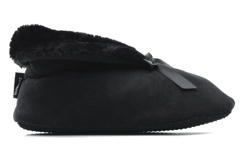 Pantoffels Isotoner Booties Nœud Satin Zwart achterkant