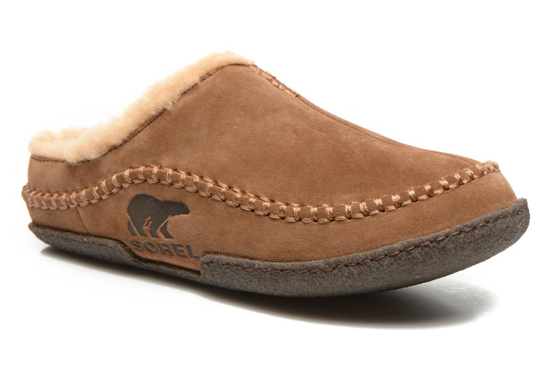 Pantoffels Sorel Falcon Ridge Bruin detail
