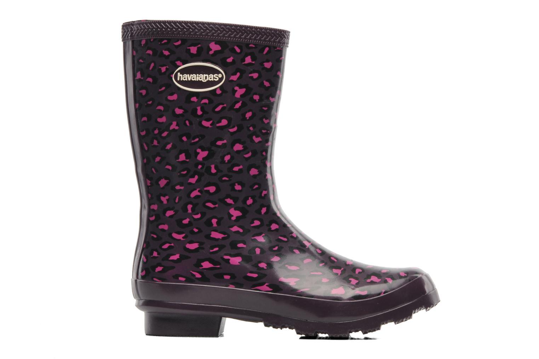 Helios Mid Animal Rain Boots Aubergine