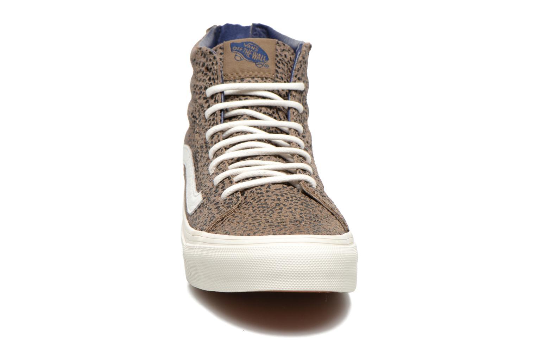 Sneaker Vans SK8-Hi Slim Zip braun schuhe getragen