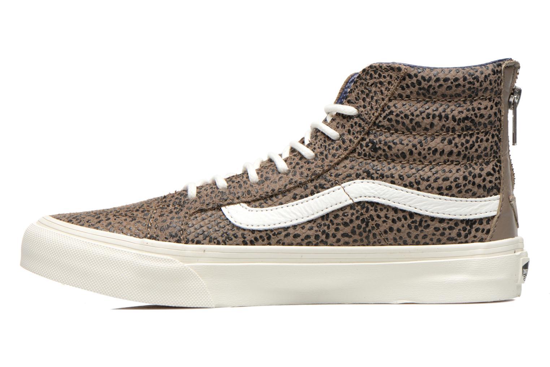 Sneaker Vans SK8-Hi Slim Zip braun ansicht von vorne