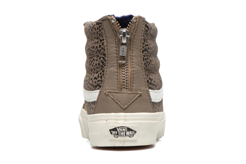 Baskets Vans SK8-Hi Slim Zip Marron vue droite