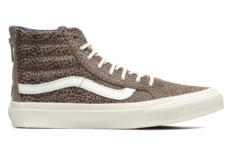 Sneaker Vans SK8-Hi Slim Zip braun ansicht von hinten