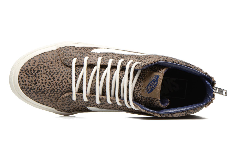 Sneaker Vans SK8-Hi Slim Zip braun ansicht von links