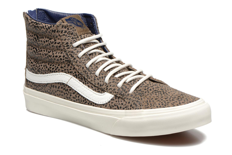 Sneaker Vans SK8-Hi Slim Zip braun detaillierte ansicht/modell