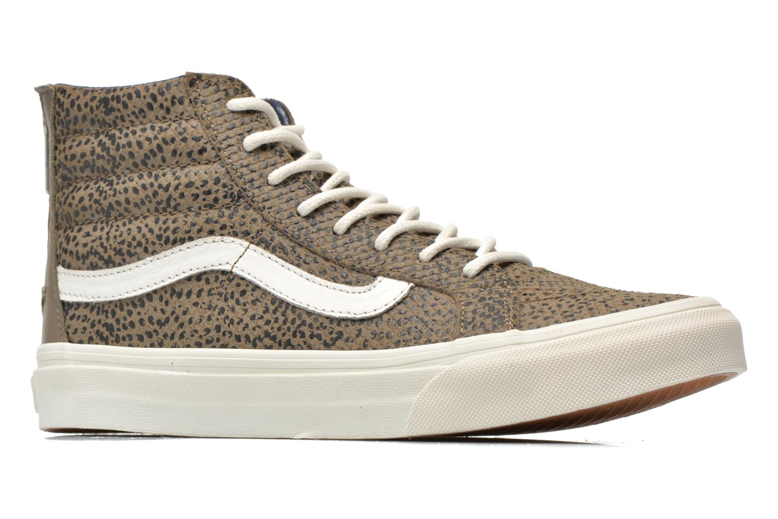 SK8-Hi Slim Zip Cheetah Suede Grey