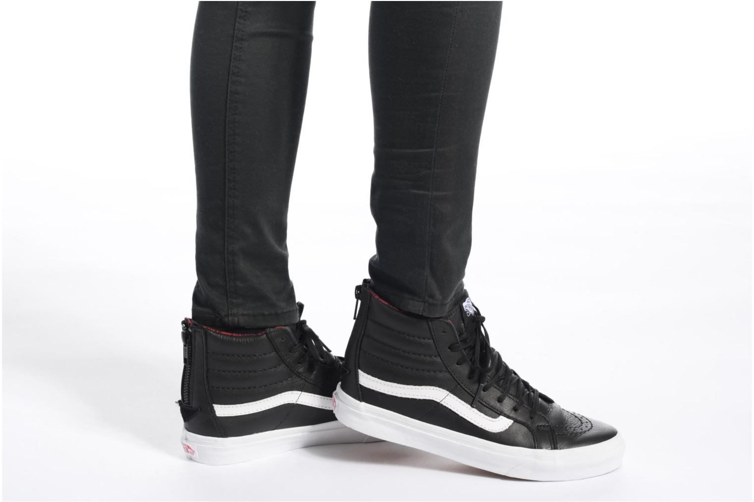 SK8-Hi Slim Zip (Plaid Flannel) Black/True White