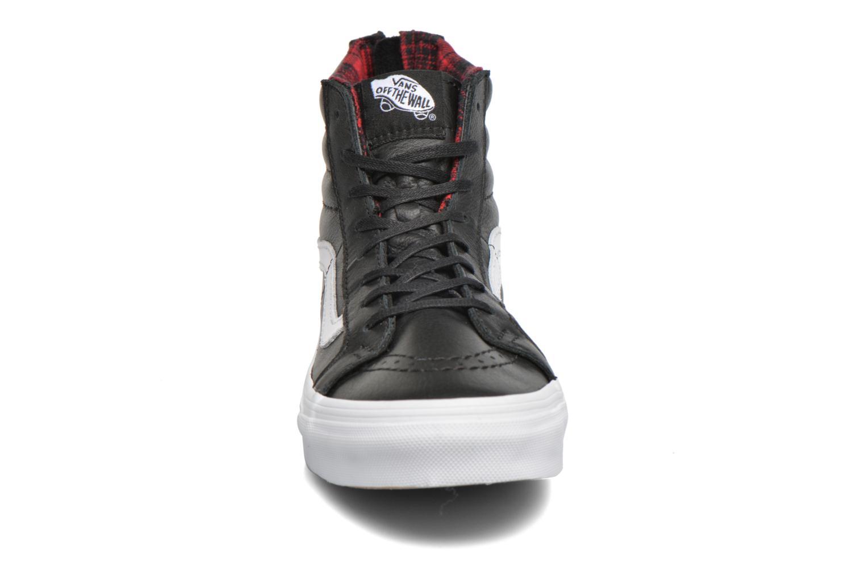 Sneaker Vans SK8-Hi Slim Zip schwarz schuhe getragen