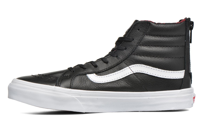 Sneaker Vans SK8-Hi Slim Zip schwarz ansicht von vorne